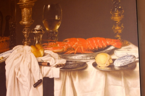 Still Life with a Lobster, 1650-9, by Willem Claesz. Heda